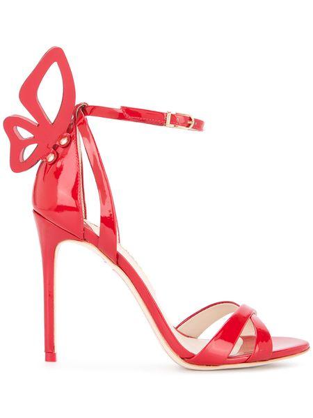 Sophia Webster Laser Cut Wings Sandals Ankle Strap Butterfly High Heels Women Patent Leather Open Toe Heels Sandles Wedding