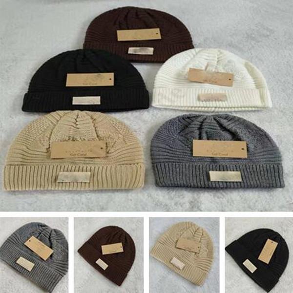Unisex Winter Warm Knitted Wool Cashmere Crochet Slouch Ski Cap Beanie Hat