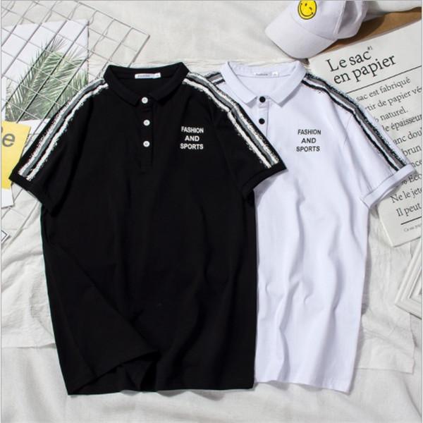 Moda Tasarımcısı Polo Mens T Shirt Yaz Marka Erkek Polo Gömlek Kısa Kollu Spor T Shirt Yüksek Sokak Rahat Üst Tee M-3XL Mevcut