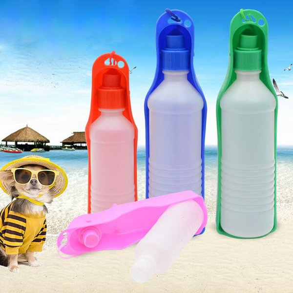 best selling 500ml Dog Water Bottle Feeder With Bowl pet dog Portable drink Water Bottle for Outdoor Travel