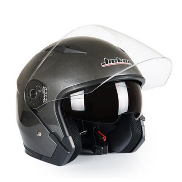 JIEKAI Motosiklet Kaskları Elektrikli Bisiklet Kask Açık Yüz Çift Lens Visors Erkek Kadın Yaz Scooter Motosiklet Moto Bisiklet Kask