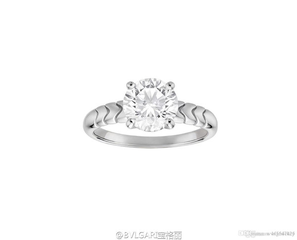 Neue frauen schmuck ringe 925 sterling silber diamant ring warenkorb Luxus kohlenstoff vier klaue einfache ring paar