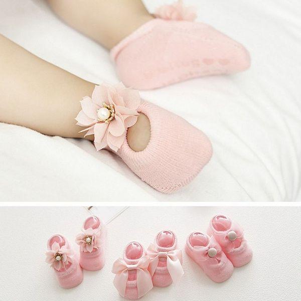 3 par / lote calcetines de bebé princesa niños calcetines del pie
