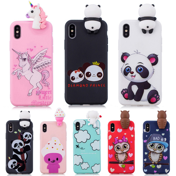 3d Soft Silicone Tpu Case For Iphone 7 7 Plus Cute Panda Owl Unicorn Phone Case For Iphone X Xs Max Xr 8 7 6 Plus 5s Se Cover