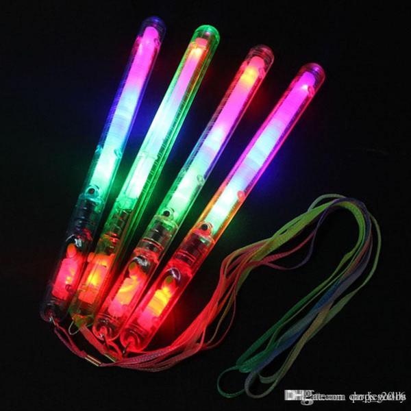 4 Color LED Flashing Glow Wand Light Sticks ,LED Flashing light up wand Birthday Christmas Party festival Camp novelty toys