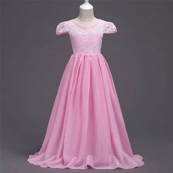 Шифон Длинные платья Одежда Vestidos De Festa Infantil Детские платья Robe Mariage Fille Платье для девочки 12 лет