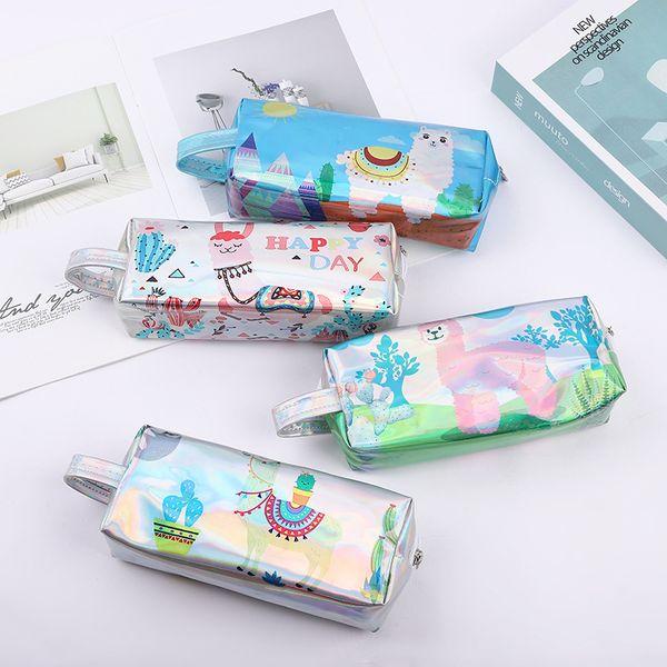 Big Laser Lápis Caso Kawaii Ovelhas Saco de Lápis Caneta Grande Caso Caixa Bonito Para Crianças Coreano Papelaria Material Escolar Escritório