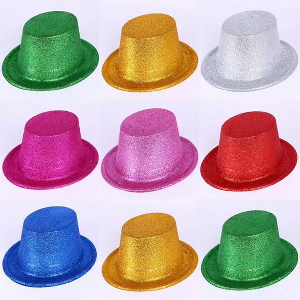 Envoi gratuit 5pcs / lot couleurs aléatoires top chapeaux Chapeaux de fête Accessoires de vêtements bricolage Performance Props Jazz Dance Hat