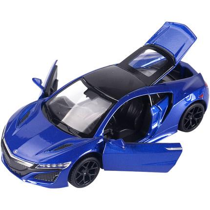 1:32 Scale Diecast Alloy Metal Luxury Sport Car Model For Honda Acura NSX Collection Model Pull Back Sound&Light Toys Vehicle