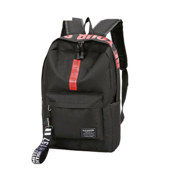 good quality Female Women Canvas Backpack Letter Zipper Style Lady Girl Student School Bag Mochila Bolsas Large Capacity Laptop Backpac