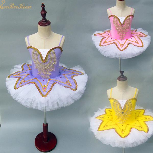 Le donne 12 colori di colore fluorescente Ballerina vestiti Balletto Dance Dress Per ragazze ragazza balletto Tutu Dress Swan Lake Costume