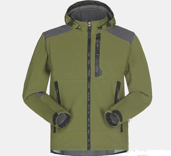 Men's Waterproof Breathable Softshell Jacket Men Outdoors Sports Coats Women Ski Hiking Windproof Winter Outwear Soft Shell jacket 253352