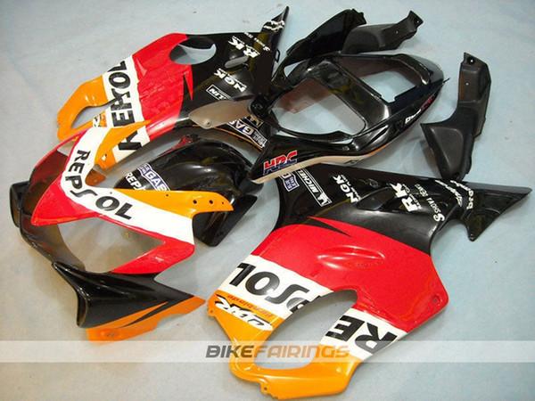 4 Cadeaux gratuits Nouveau ABS Injection Kits complets carénages pour Honda CBR600 F4i FS 2001 2002 2003 01 02 set 1 au 3 mars carrosserie Rouge Jaune Noir