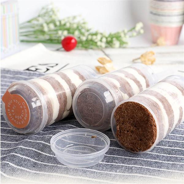 플라스틱 식품 등급 밀어 팝 컨테이너 푸시 케이크 팝 케이크 컨테이너 파티 장식 라운드 모양 도구 DIY 베이킹 용품 베이킹 금형