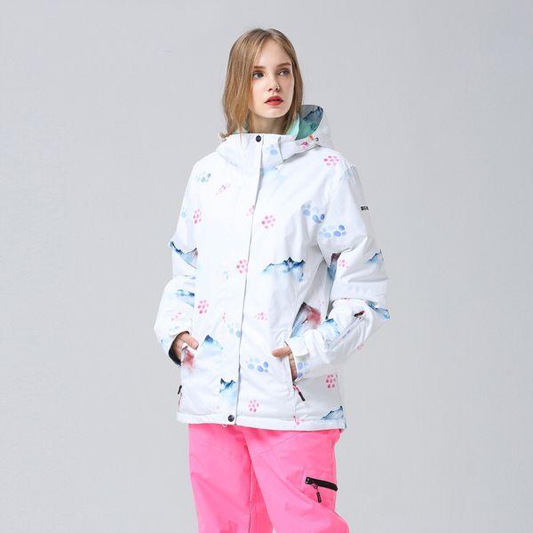Ski Jacket Women Skiing Snowboarding Jackets Snowboard Sportswear Winter Skiing Clothes -30 Celsius Windproof Waterproof 10000