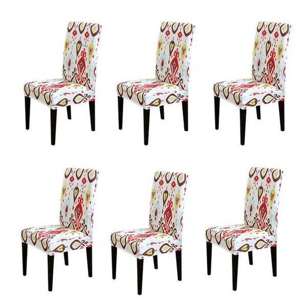 Color de la impresión cubierta de la silla del estiramiento asiento elástico grande cubre fundas de pintura restaurante banquete hotel decoración del hogar