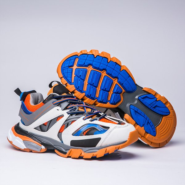 2018 New arrival Original Track Tess 3.0 Mens Hiking Shoes Women Orange Blue White Sneaker Running Shoes Dad Shoes