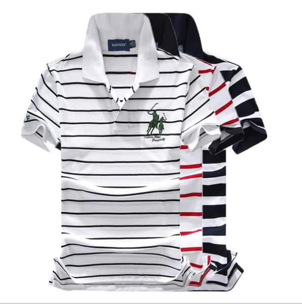 Ральф поло Лорен футболка мужская рубашка поло на открытом воздухе отдыха Поло хлопок полосатая футболка отворотом гольф-поло футболки качества футболки мужские марки футболки