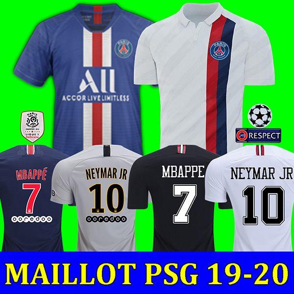 18 19 20 PSG jordan third maillots de foot MBAPPE soccer jersey CAVANI VERRATTI top thailand 2019 2020 paris football shirt KIMPEMBE Camiseta de futbol