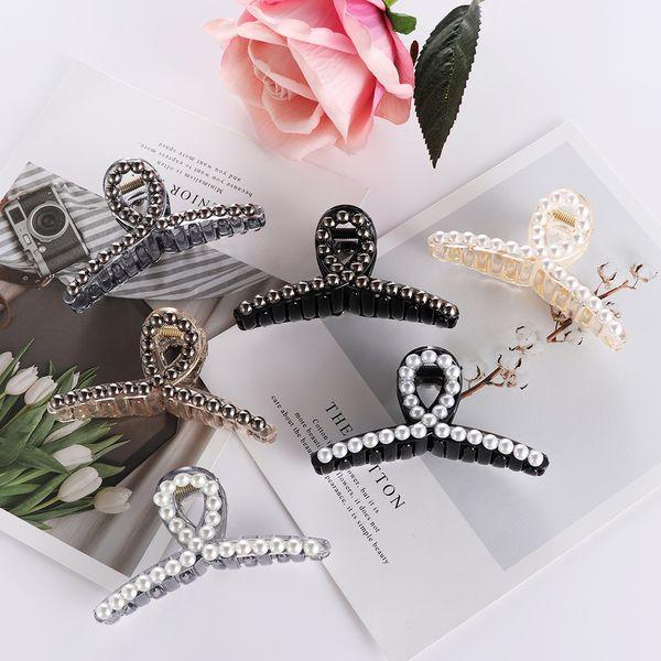 20Pcs Elegant Pearls Hairpins Ornaments Hair Clip Rhinestone Crab Hair Claws Women Headwear Hair Styling Tools