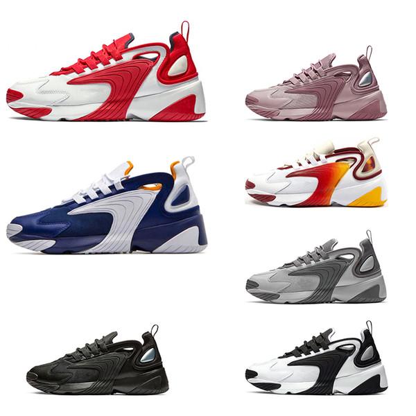Nike Zoom 2K course vente chaude hommes femmes noir blanc crème blanc course race rouge royal bleu violet formateurs baskets de sport de plein air taille 36-45