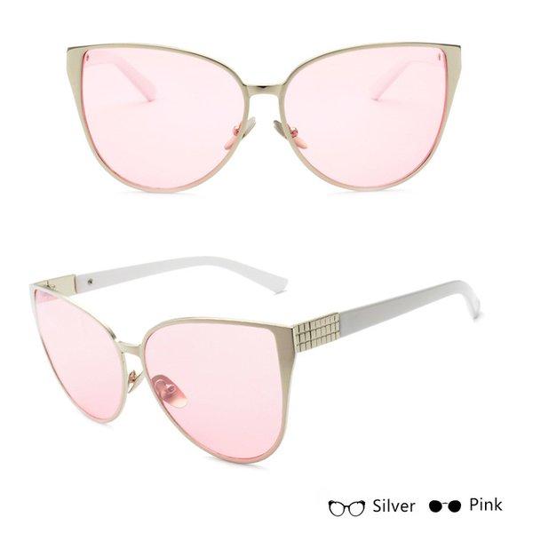 Silver W Pink