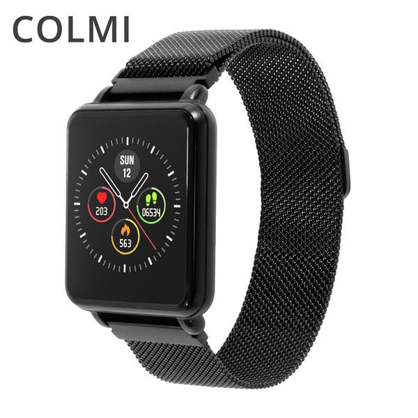 Colmi Land 1 Tam Dokunmatik Ekran Akıllı İzle Ip68 Su Geçirmez Bluetooth Spor Spor Izci Erkekler Smartwatch Ios Android Telefon Için T190629