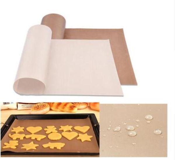 Riutilizzabile Stuoia resistente alla temperatura foglio di teflon riutilizzabile Carta da forno di cottura resistente all'olio Pad resistente al calore antiaderente per barbecue all'aperto