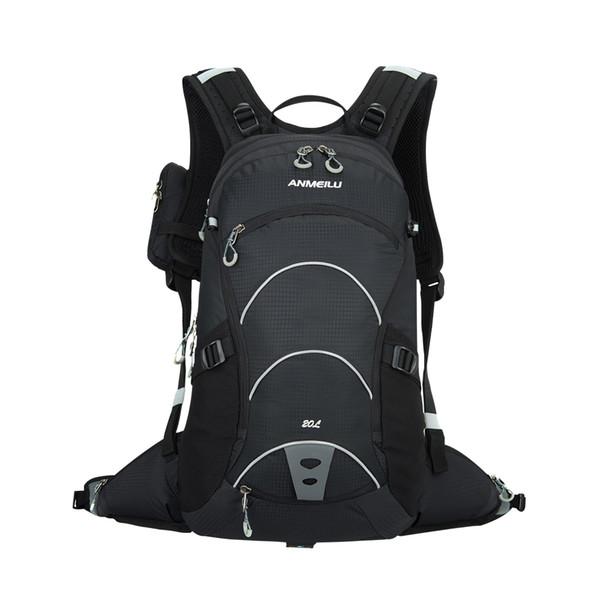 20l 20L Nylon Outdoor Backpack Mountaineering Nylon Travel Hike Camp Climb Bagpack Laptop Back Bag Green / Purple / Black