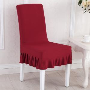 Pleated Solid Chair Cover Cloth Seat Protector Solid Elastic Slipcover Simple Hotel Party Home Table Decor LLA292