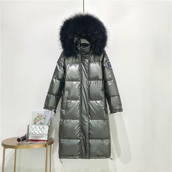 серое пальто черный мех