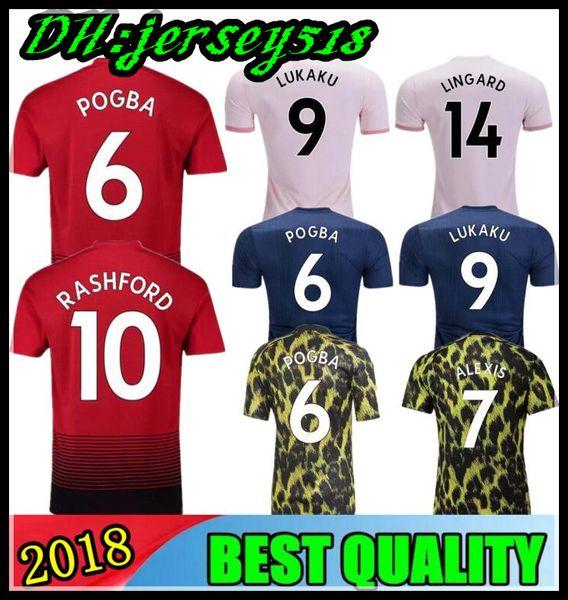 18 19 POGBA LUKAKU soccer jerseys 2018 football shirt ALEXIS LINDELOF RASHFORD MKHITARYAN MARTIAL MATIC Adults and kids