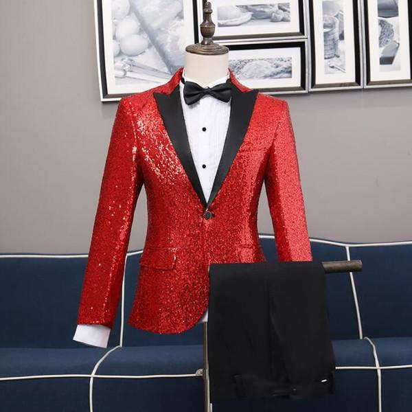 Compre Los Hombres De La Chaqueta De Vestir últimos Juegos Formales De La Boda Los Hombres De Traje Diseños Bragas De La Capa De Lentejuelas