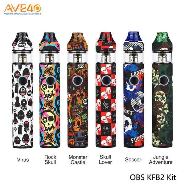 OBS KFB2 AIO Starter Kit Embutida 1500 mAh Bateria Com Capacidade de 2 ml S1 Malha N1 bobina de atualização OBS Cubo Kit 100% Original
