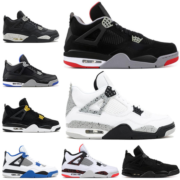 7dc306adaa19da new fashion 4 Men Basketball Shoes 4s Pure Money Bred Fire Red White Cement  Royalty Thunder