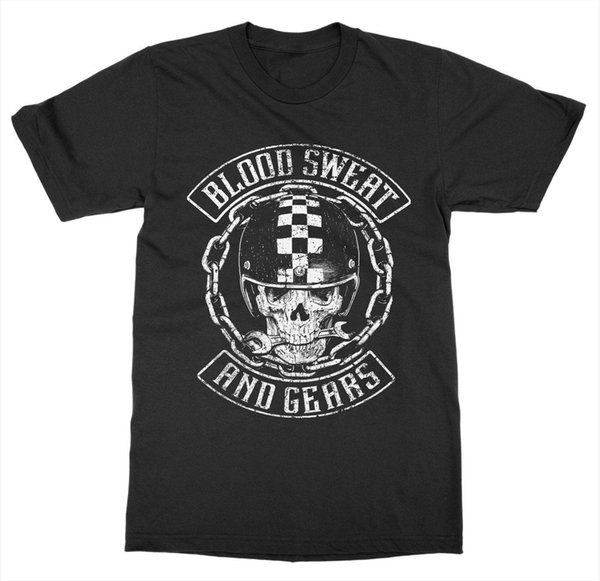 Blood Sweat and Gears T-Shirt Ride or Die Vintage Motorcycle Club Race Bike WingFunny free shipping Unisex Casual Tshirt