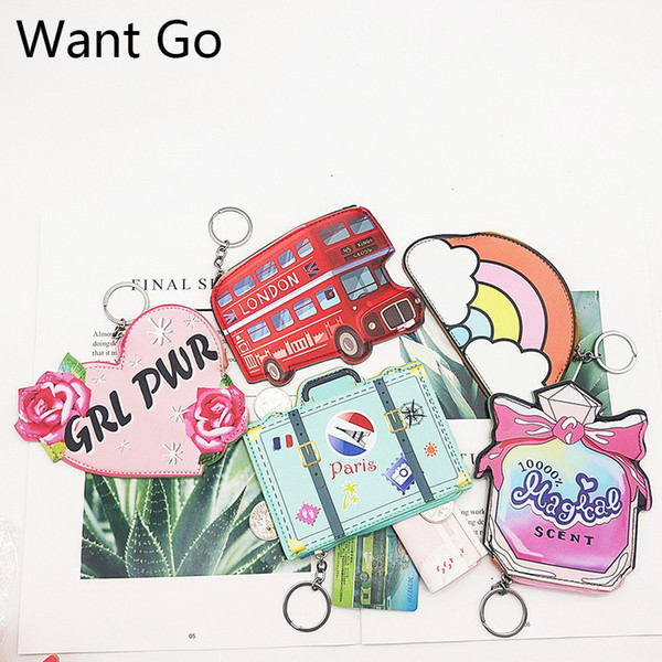 Want Go New Women Coin Purses Cute Cartoons Coin Collection Bag Portable Mini Purses Child Small Wallets Waterproof Storage Bag