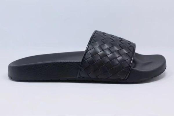 Cheap Designer fashion 2019 men shoes designer slippers gladiator sandals Straw flip flops pink sandals Weaving