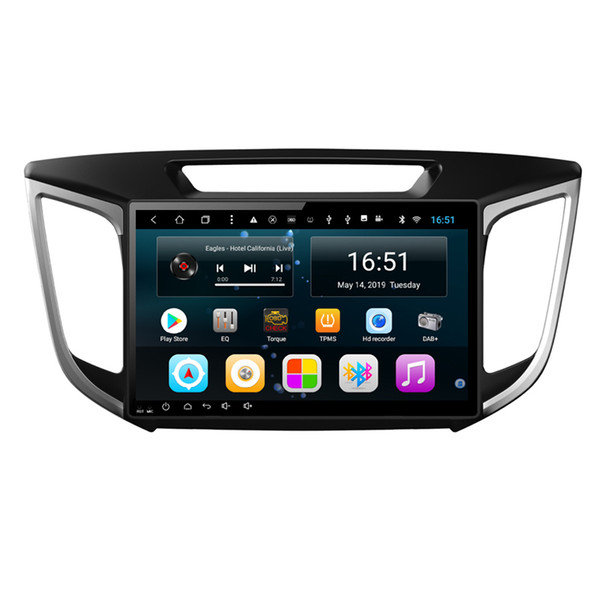 Android 10.1 pouces 8-core pour Hyundai IX25 creta Voiture GPS Multimedia Player Support vous définissez ne importe quel fond d'écran Wifi Head Unit