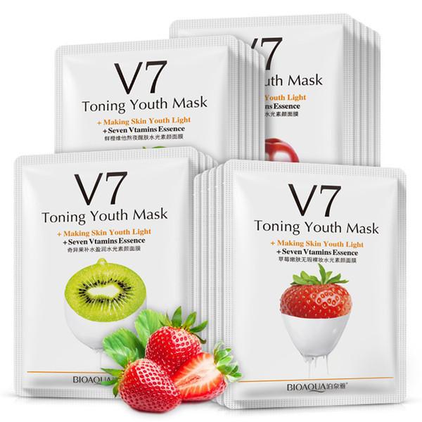 BIOAQUA Fruit Mask V7 Toning Youth Facial Mask Deep Moisturizing Hydrating Wrapped Face Peels Skin Care Oil Control Facial Mask