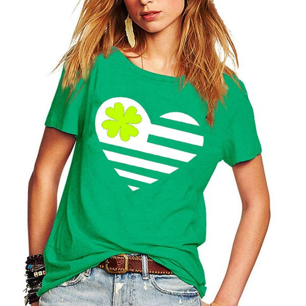 2019 Women Shamrocks Print Shirts Summer Fashion Tops Female Crew Neck Irish St Patrick Blouses Ireland Festival Clothing From Hilllin1989, $10.87   ...