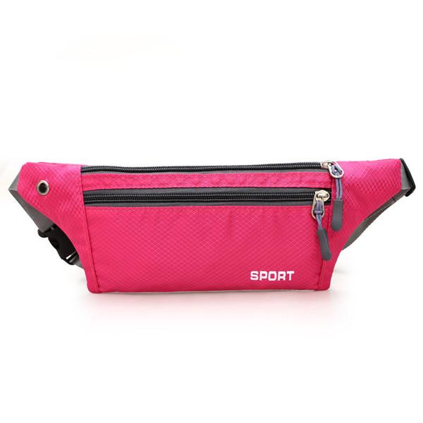 Outdoor Sports Zipper Waist Pack Men Women Waterproof Running Wasit Bag Cell Phone Holder Case Pocket Fanny Pack Hip Pouch