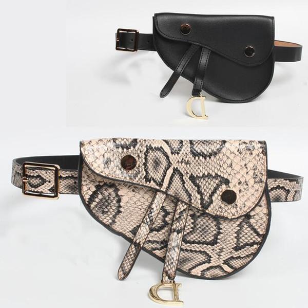 Son sıcak bayanlar kemer çanta Tasarımcısı yılan ince kemer eyer çantası Moda mini cep telefonu çantası çanta Ücretsiz kargo