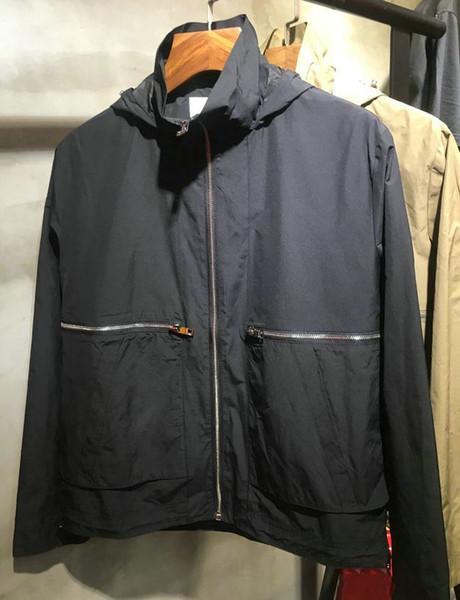 Bur bagas homem jaquetas 2019 oficial novo estilo homem casaco designer de luxo vento jaqueta esporte ao ar livre casaco de algodão confortáveis casacos de lazer