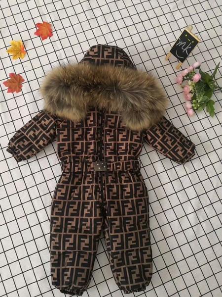 Çocuk kış aşağı ceket kız baskılı ördek aşağı ceket moda tulum kalın ceket sıcak erkek marka kalın aşağı ceket