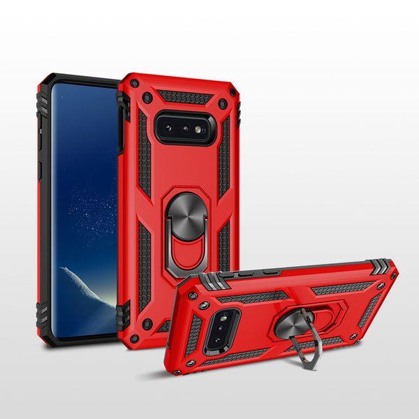 Stoßfestigkeit Hybrid Zurück Fall 360 Rotierende Auto-Halterung Rugged Phone Shell Voller Schutz für iPhone XS Max XR 8 Plus Samsung S10