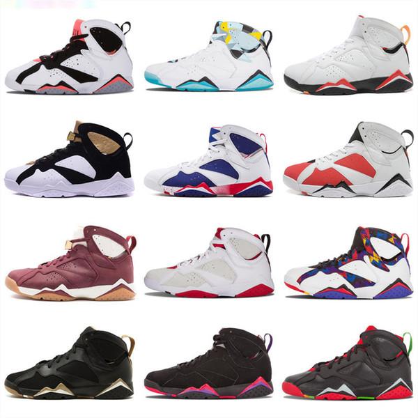 Дешевые 7 Баскетбольные Кроссовки Мужчины 7 s VII Фиолетовый UNC Бордо Олимпийский Pant