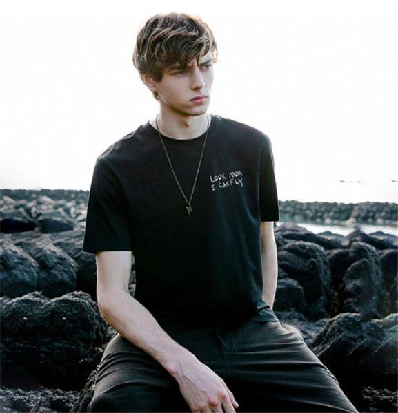 TRAVIS SCOTT Astroworld Fashion Mens Tees Letras de verano Imprimir Camisetas para hombre MIRE A MOM I FLY FESTIVAL Tops