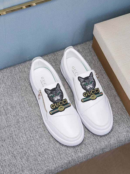 31901 Classico personalizzato ricamato patch moda casual fibbie stringate mocassini driver scarpe da ginnastica scarpe