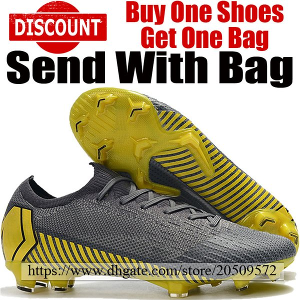 f5f209e9125 2019 New Mens Mercurial Vapors XII Elite 360 FG Football Boots Man ACC  Soccer Shoes Outdoor